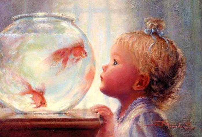 Ребёнок и аквариум