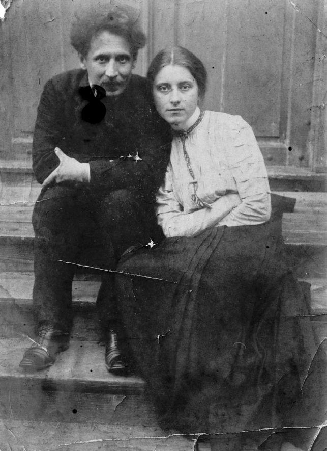 Чюрлёнис с женой