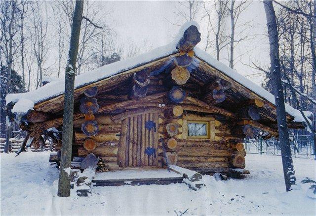 русская баня домик