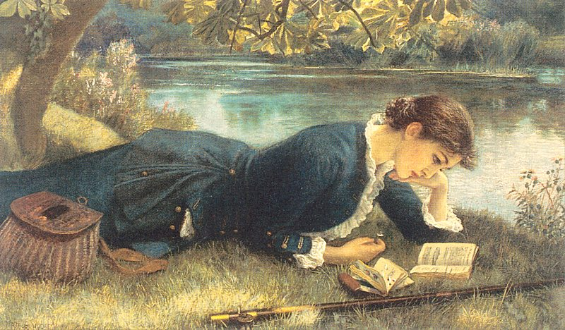 чтение у реки