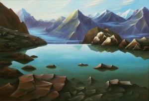 4 горное озеро