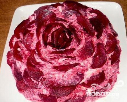 7.Чёрная роза из свеклы