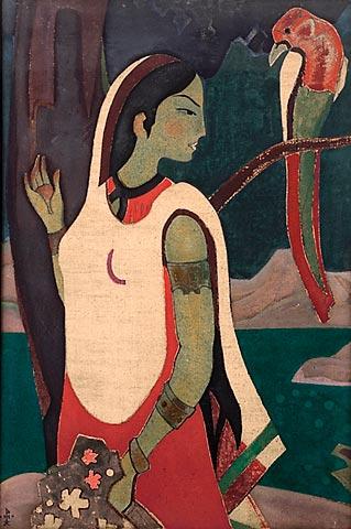 Эскиз Язык птиц Н. Рерих 1920 г.